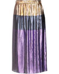 Golden Goose Deluxe Brand 3/4 Length Skirt - Metallic