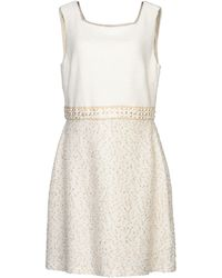 St. John Short Dress - White