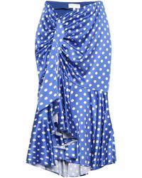 Caroline Constas Midi Skirt - Blue