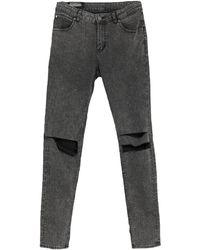 Cheap Monday Pantalon en jean - Gris