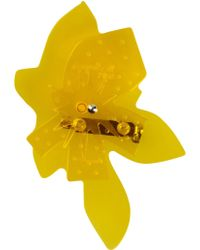 Jil Sander Navy Brooch - Yellow