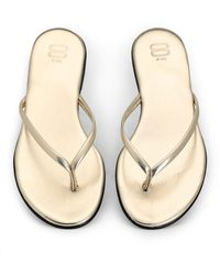 8 by YOOX Toe Strap Sandals - Natural