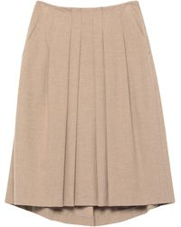 Peserico Midi Skirt - Natural