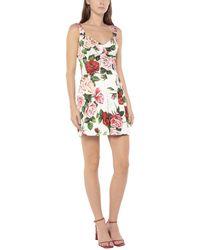Dolce & Gabbana Jumpsuit corta a stampa in broccato - Bianco