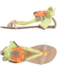 Fisico - Toe Strap Sandal - Lyst