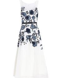 Lela Rose Vestido a media pierna - Blanco