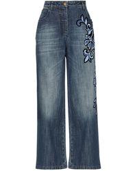 Alberta Ferretti Pantalon en jean - Bleu