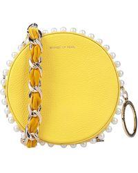 Mother Of Pearl Handbag - Yellow