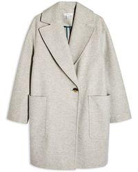 TOPSHOP Coat - Grey