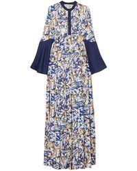 Mary Katrantzou Vestido largo - Azul