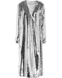 Ganni Midi Dress - Metallic