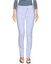 Frankie Morello Denim Trousers - White