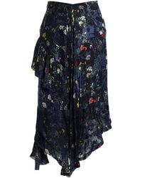 Preen By Thornton Bregazzi 3/4 Length Skirt - Blue