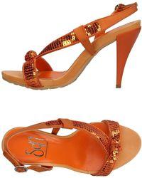 Sgn Giancarlo Paoli Sandals - Orange