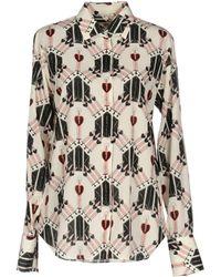 Valentino Love Blade Printed Long-sleeve Blouse - White