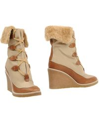 Chloé Ankle Boots - Natural