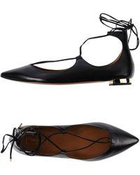 Aquazzura Ballet Flats - Black