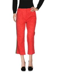 ..,merci Casual Trouser - Red