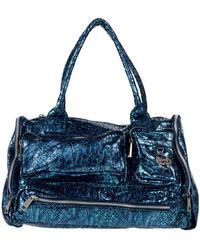 Secret Pon-pon Handbag - Blue