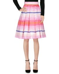 Daizy Shely Knee Length Skirt - Pink