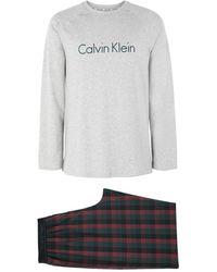 Calvin Klein Pyjama - Grau