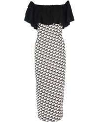 22 Maggio By Maria Grazia Severi Midi Dress - Black