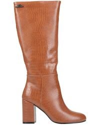 Romeo Gigli Knee Boots - Brown