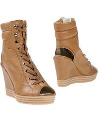 Hogan Rebel Ankle Boots - Natural