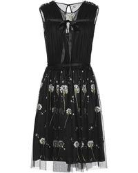 Blugirl Blumarine Vestido por la rodilla - Negro
