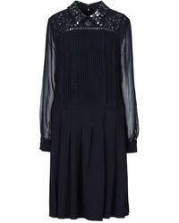 Mikael Aghal Knee-length Dress - Blue