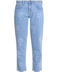 Victoria, Victoria Beckham Denim Trousers - Blue