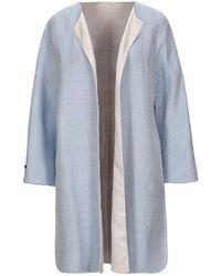Manzoni 24 Overcoat - Blue