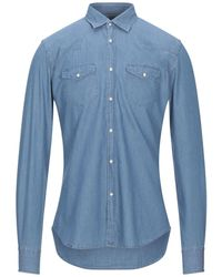 Xacus Camicia jeans - Blu