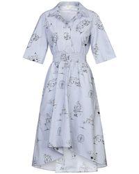 Maje Knielanges Kleid - Blau