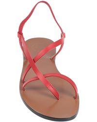 Atp Atelier Toe Strap Sandal - Red