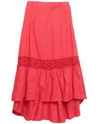 KATE BY LALTRAMODA 3/4 Length Skirt - Red