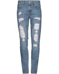 Alexander McQueen Denim Trousers - Blue