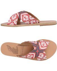 Ancient Greek Sandals Sandalias - Rojo