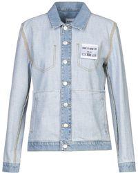 Au Jour Le Jour Manteau en jean - Bleu
