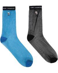 Karl Lagerfeld Short Socks - Blue
