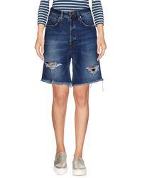People Denim Shorts - Blue