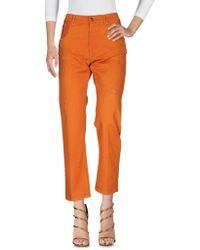 People Denim Trousers - Orange