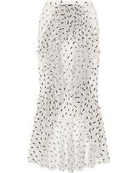 Rodarte 3/4 Length Skirt - White
