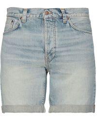 Nudie Jeans Denim Shorts - Blue