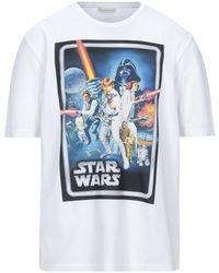 Etro Camiseta Oversize De Jersey De Algodón Estampada - Blanco