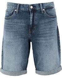 Calvin Klein Bermuda en jean - Bleu