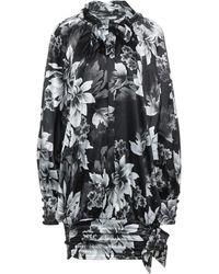 W Les Femmes By Babylon Short Dress - Black