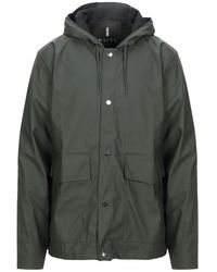 Rains Lange Jacke - Grün
