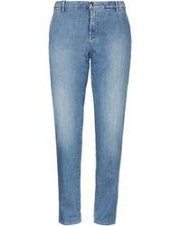 Care Label Denim Trousers - Blue