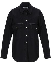 Alberta Ferretti Denim Shirt - Black